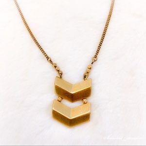 J.Crew Simple Gold Tone Arrow Pendant Necklace